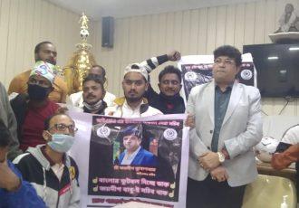 IFA General Secretary Joydeep Mukherjee with fans at the IFA Office in Kolkata. (Photo courtesy: Mohammedan Sporting Club)