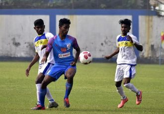 IFA Shield 2020 match action between the Indian Arrows and George Telegraph SC. (Photo courtesy: AIFF Media)