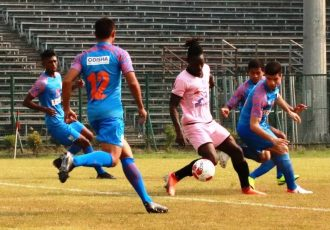 IFA Shield 2020 match action between Southern Samity and the Indian Arrows. (Photo courtesy: AIFF Media)