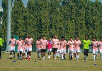 Aizawl FC training session. (Photo courtesy: AIFF Media)