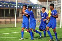 Bengaluru FC 'B' winger Akashdeep Singh (#22) celebrates with his teammates after scoring against FC Deccan in a BDFA Super Division match at the Bengaluru Football Stadium. (Photo courtesy: Bengaluru FC)
