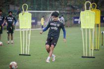 Chennaiyin FC midfielder and vice-captain Anirudh Thapa in training. (Photo courtesy: Chennaiyin FC)