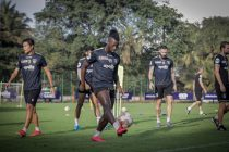 Chennaiyin FC forward Isma Goncalves in training. (Photo courtesy: Chennaiyin FC)