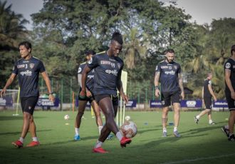 Chennaiyin FC forward Isma Goncalves in training. (Photo courtesy: Chennaiyin FC)