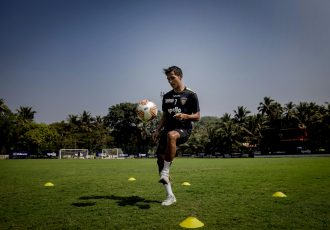 Chennaiyin FC winger Lallianzuala Chhangte in training. (Photo courtesy: Chennaiyin FC)