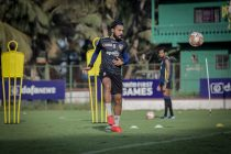 Edwin Vanspaul in training for Chennaiyin FC. (Photo courtesy: Chennaiyin FC)
