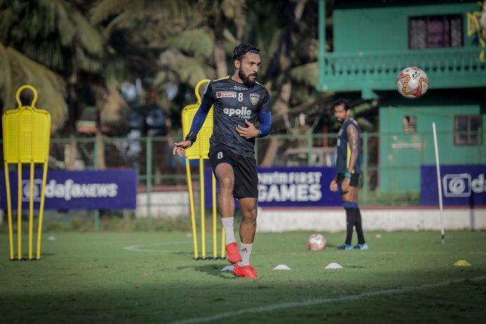 Edwin Vanspaul in training for Chennaiyin FC. (Photo courtesy: Chennaiyin FC)