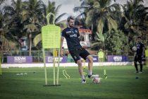 Enes Sipovic in training for Chennaiyin FC. (Photo courtesy: Chennaiyin FC)
