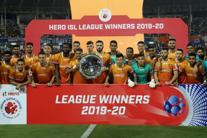 Hero ISL League Winners 2019-20: FC Goa (Photo courtesy: AIFF Media)