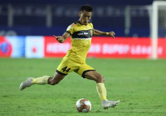 Hyderabad FC full-back Asish Rai. (Photo courtesy: AIFF Media)