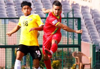 TRAU FC winger and Tajikistan international Komron Tursunov. (Photo courtesy: AIFF Media)