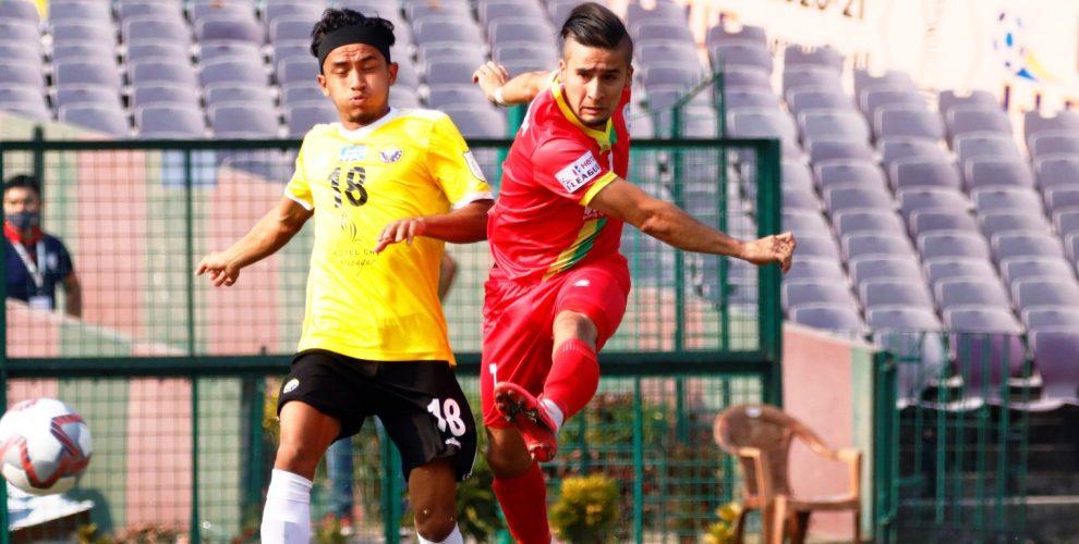 TRAU FC winger and Tajikistan international Komron Tursunov. (Photo courtesy: AIFF Media)