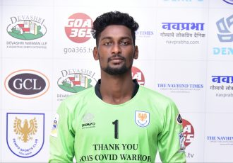 Dempo SC goalkeeper Melroy Fernandes. (Photo courtesy: Dempo SC)