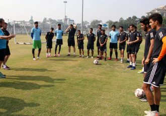 Real Kashmir FC training session. (Photo courtesy: AIFF Media)