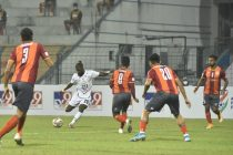 Hero I-League match action between RoundGlass Punjab FC and Mohammedan Sporting Club. (Photo courtesy: AIFF Media)