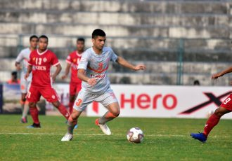 Indian Arrows defender Sajad Hussain in action in the Hero I-League. (Photo courtesy: AIFF Media)