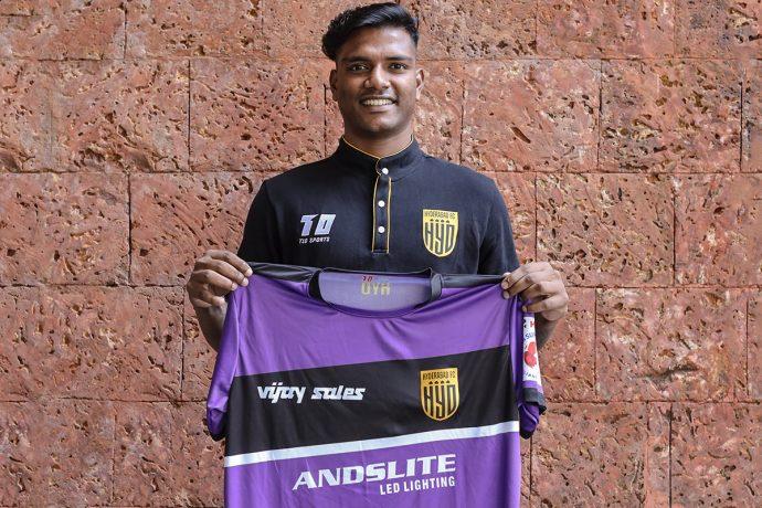 Hyderabad FC goalkeeper Sankar Roy. (Photo courtesy: Hyderabad FC)