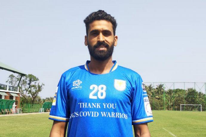 Dempo Sports Club defender Simranjeet Singh. (Photo courtesy: Dempo SC)