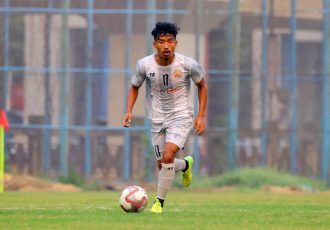 RoundGlass Punjab FC midfielder Suranjit Singh. (Photo courtesy: AIFF Media)
