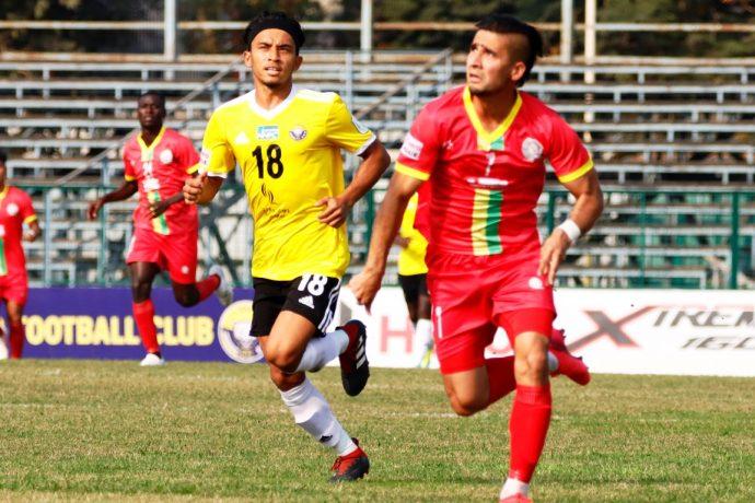 TRAU FC striker and Tajikistan international Komron Tursunov. (Photo courtesy: AIFF Media)