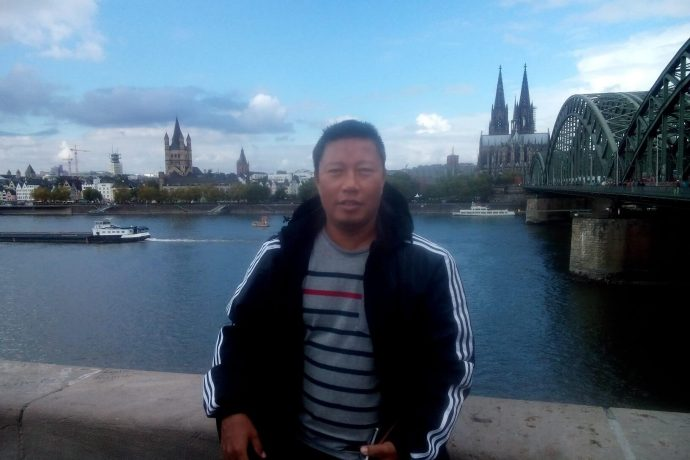 File picture: Bitan Singh during a visit to Cologne, Germany. (Photo courtesy: AIFF Media)