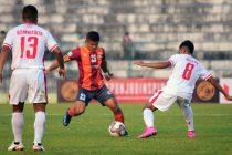 Hero I-League match action between RoundGlass Punjab FC and Aizawl FC. (Photo courtesy: AIFF Media)