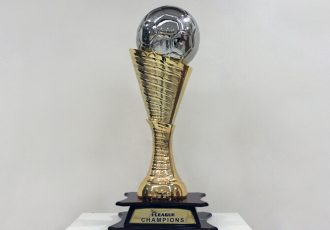 The Hero I-League trophy. (Photo courtesy: AIFF Media)