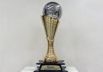 The Hero I-League trophy. (Photo courtesy: AIFF Media)