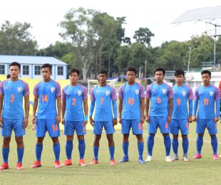 The India U-16 national team. (Photo courtesy: AIFF Media)