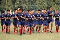 The Indian Arrows squad during a training session. (Photo courtesy: AIFF Media)