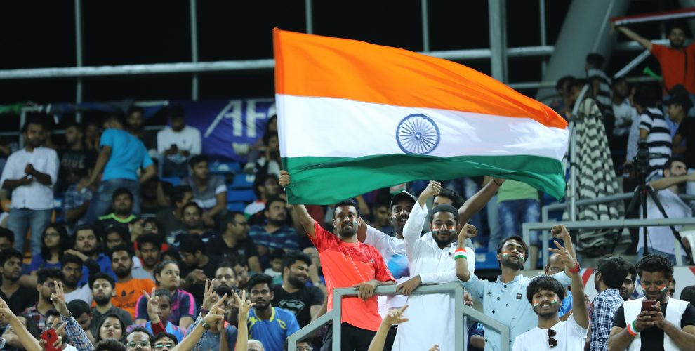Indian football fans cheering for the national team. (Photo courtesy: AIFF Media)