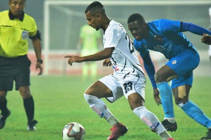 Hero I-League match action between Mohammedan Sporting Club and Churchill Brothers FC. (Photo courtesy: AIFF Media)
