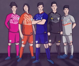 #TakeTheLeap: The new India home and away kits by Six5Six. (Image courtesy: Six5Six - Screenshot)