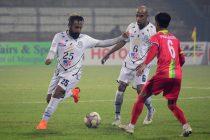 Hero I-League match action between TRAU FC and Mohammedan Sporting Club. (Photo courtesy: AIFF Media)