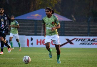 Gokulam Kerala FC's Emil Benny. (Photo courtesy: AIFF Media)
