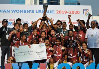 Hero Indian Women's League 2019/20 champions Gokulam Kerala FC. (Photo courtesy: AIFF Media)