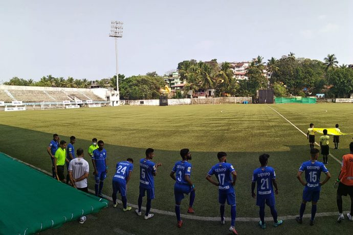 Dempo Sports Club players moments before their Goa Professional League match. (Photo courtesy: Dempo SC)