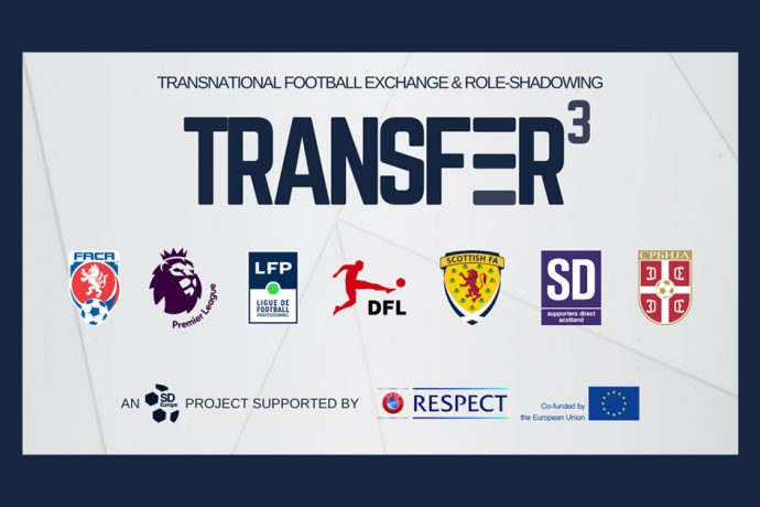 TRANSFER (Transnational Football Exchange and Role-Sharing), an initiative by the European supporters' organisation SD Europe. (Image courtesy: SD Europe)