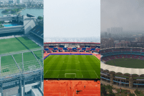 AFC Women's Asian Cup India 2022 venues: TransStadia in Ahmedabad, Kalinga Stadium in Bhubaneswar and D.Y. Patil Stadium in Navi Mumbai. (Photo courtesy: AIFF Media)