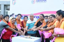 AFC Women's Football Day celebrations by the Football Association of Odisha and Sports & Youth Services, Government of Odisha at Kalinga Stadium, Bhubaneswar. (Photo courtesy: Football Association of Odisha)