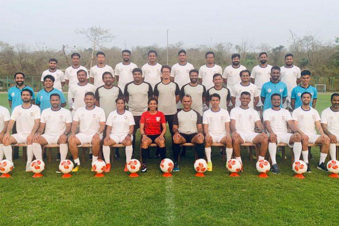 Participants of the AIFF E Certificate Tutor Course at the Dempo Sports Club Academy Complex in Ella - Old Goa. (Photo courtesy: Dempo SC)