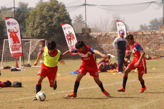 Training session at a BFFS Residential Academy. (Photo courtesy: Bhaichung Bhutia Football Schools)