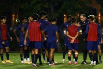 Indian national team head coach Igor Štimac with his squad during training. (Photo courtesy: AIFF Media)
