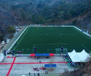 MFA Ground under FIFA Forward Project at Sairang Dinthar, Mizoram. (Photo courtesy: Mizoram Football Association)