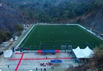 MFA Ground under FIFA Forward Project at Sairang Dinthar, Mizoram. (Photo courtesy: Mizoram Football Association)