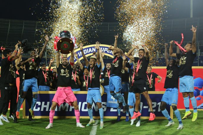 Hero Indian Super League 2020/21 champions Mumbai City FC. (Photo courtesy: ISL Media)