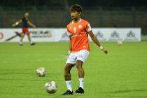 NEROCA FC's Yumkhaibam Jiteshwor Singh (Photo courtesy: AIFF Media)