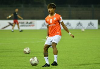 NEROCA FC's Yumkhaibam Jiteshwor Singh (Photo courtesy: AIFF Media)