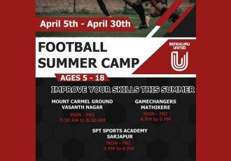 FC Bengaluru United Football Summer Camps in April 2021. (Image courtesy: FC Bengaluru United)
