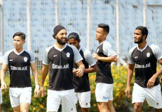 Gokulam Kerala FC players in training. (Photo courtesy: AIFF Media)